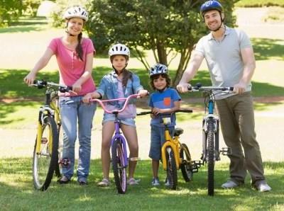 family-riding-bikes-outdoors